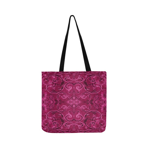 Antique Thai Pattern Fuschia Tote Bag