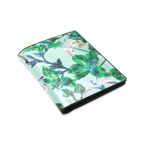 Blue Tropical Bramble Wallet