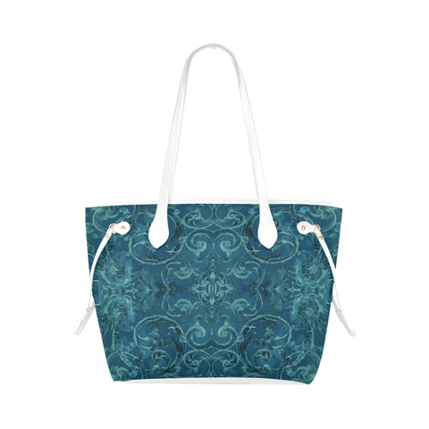 Antique Thai Pattern Teal Shoulder Bag