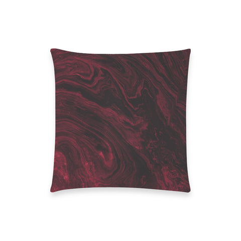 Ruby Red Marble Pillow Case