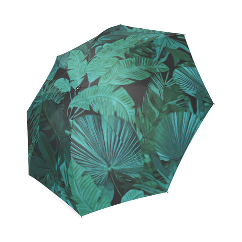 Dark Green Tropical Umbrella