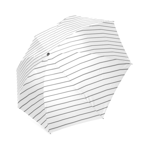 Black Small Stripes on White Umbrella