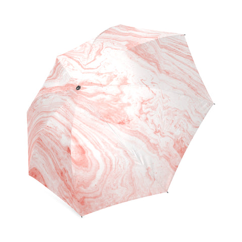 Salmon Pink Marble Umbrella
