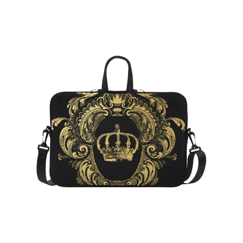 Gold Crown Black Laptop Bag 15.6""