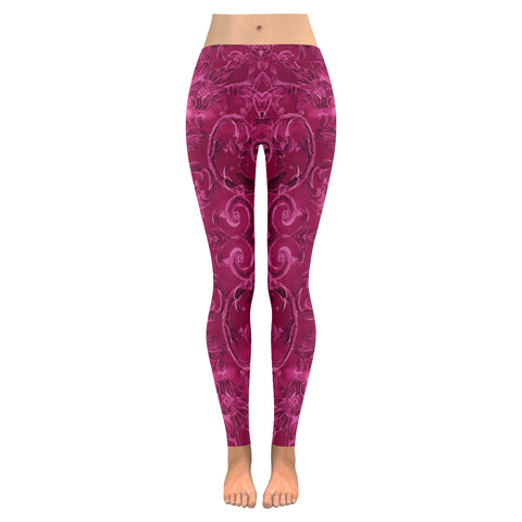Antique Thai Pattern Fuchsia Leggings