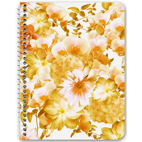 Yellow Romantic Floral Notebooks & Journals