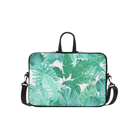 Green Tropical Laptop Bag 15.6""