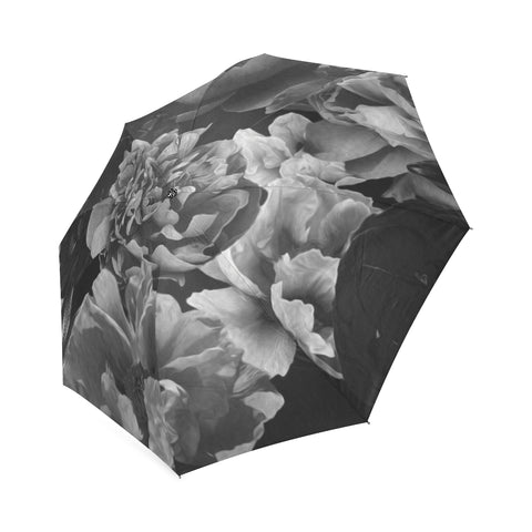 Black Floral Umbrella
