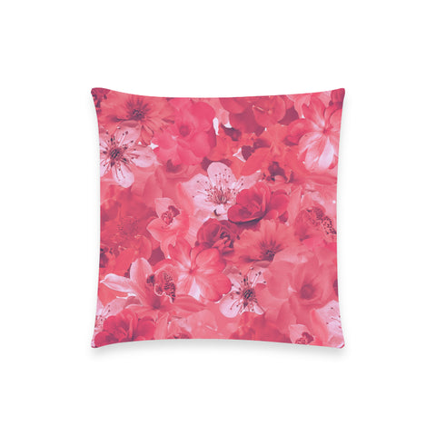 Pink Floral Pillow Case