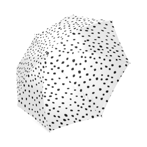 Black Dots on White Umbrella
