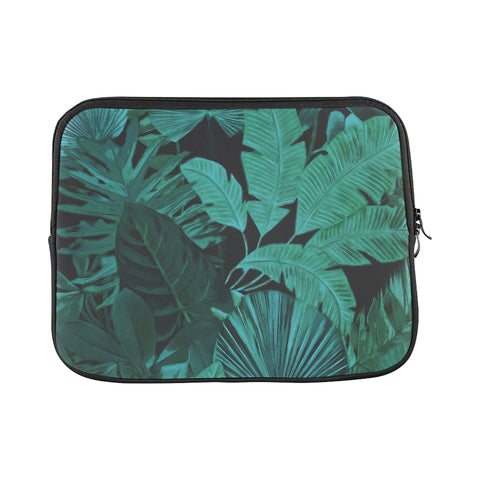 Dark Green Tropical Laptop Sleeve 11""