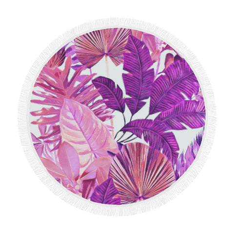 Warm Tropical Round Beach Blanket