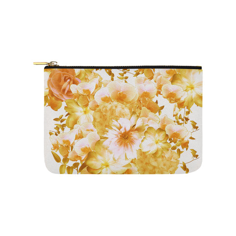 Yellow Romantic Floral Clutch
