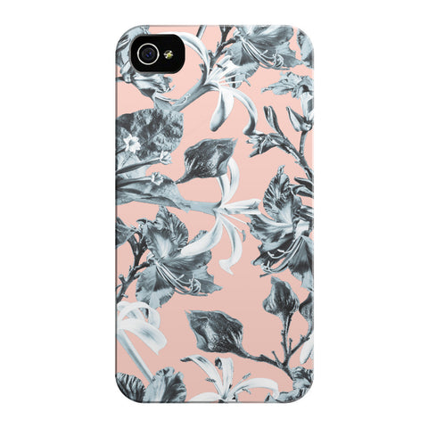 Pink Blue Bramble iPhone Cases