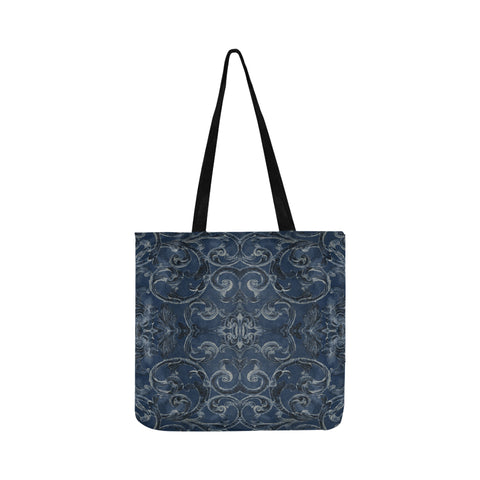 Antique Thai Pattern Blue Tote Bag