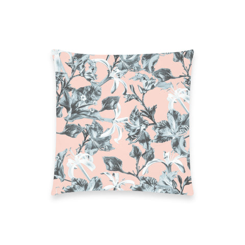 Blue Pink Bramble Pillow Case