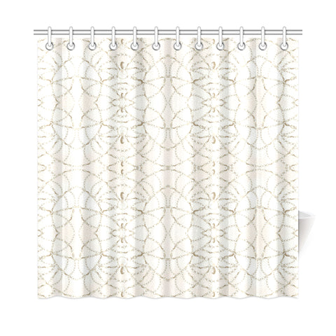 Beaded Pearls Shower Curtain