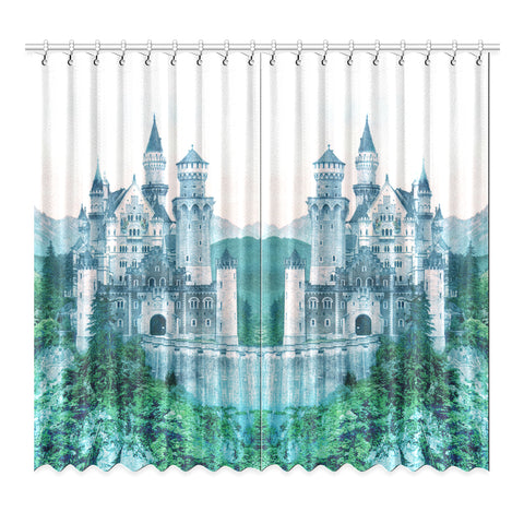 Forest Castle Window Curtain