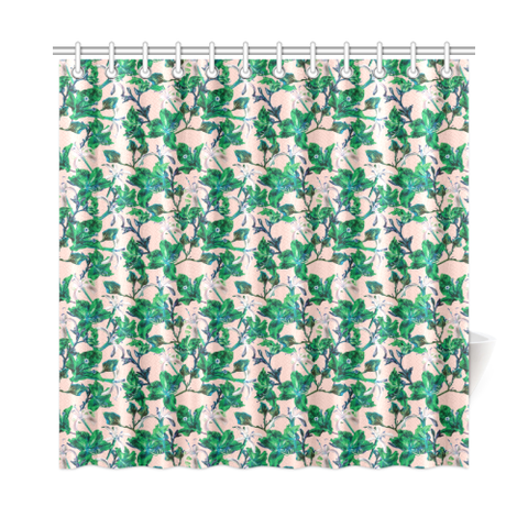 Tropical Bramble Pink Shower Curtain