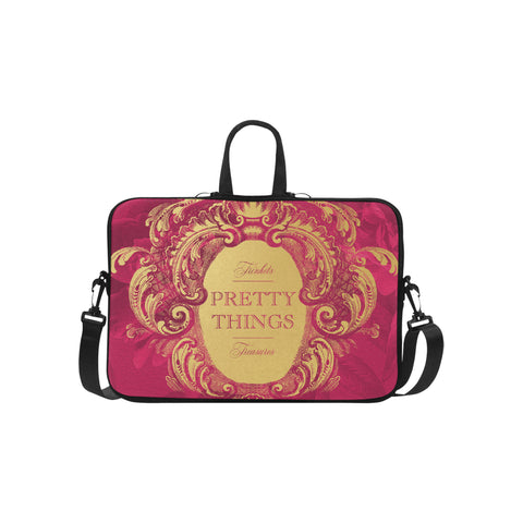 Pretty Things Raspberry Laptop Bag 15.6""