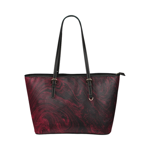 Ruby Red Marble Faux Leather Shoulder Bag