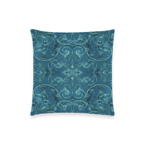 Antique Thai Pattern Teal Pillow Case