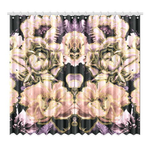 Bold Floral Window Curtain