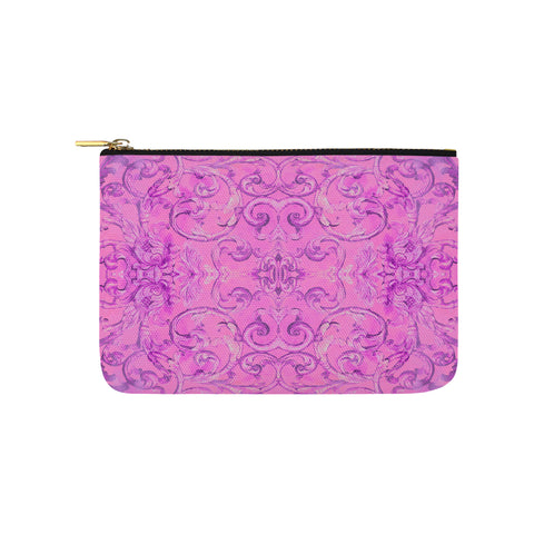 Antique Thai Pattern Pink Clutch