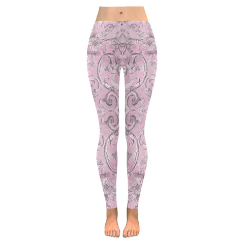 Antique Thai Pattern Lilac Leggings