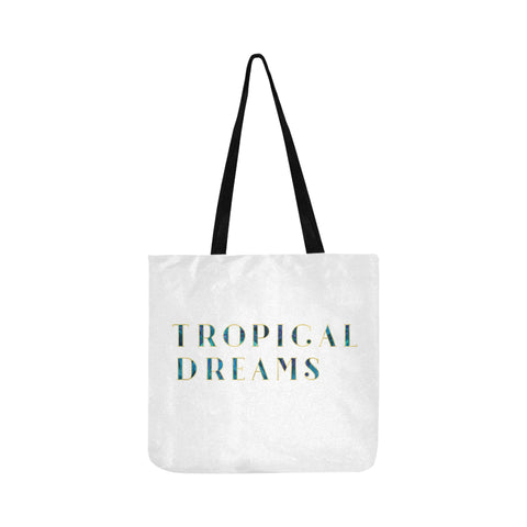 Dark Cool Tropical Dreams Tote Bag