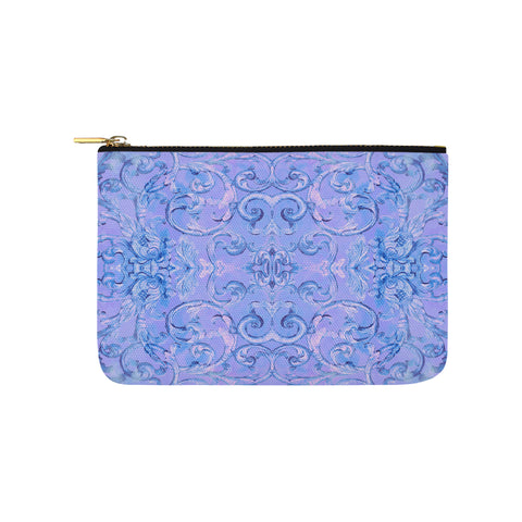 Antique Thai Pattern Blue Clutch