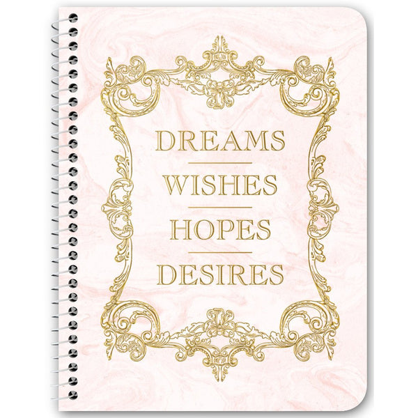 Dreams Wishes Hopes Desires Notebooks & Journals - 3 Color Options