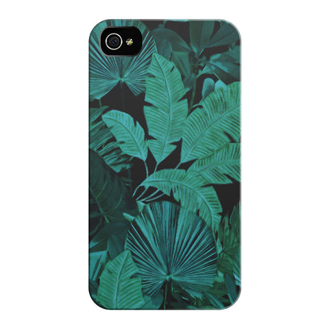 Dark Green Tropical iPhone Cases