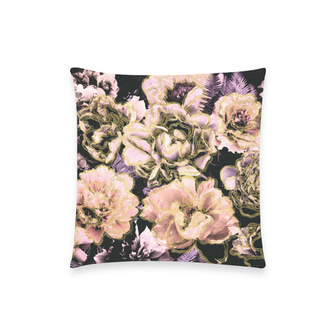 Bold Floral Gold Pillow Case