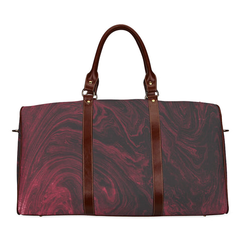 Ruby Red Marble Travel Bags