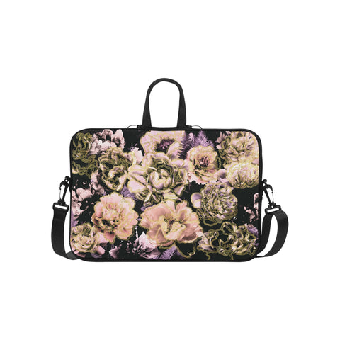 Gold Bold Floral Laptop Bag 15.6""