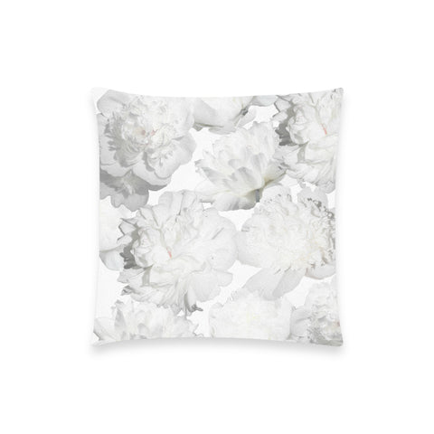 White Peonies Pillow Case