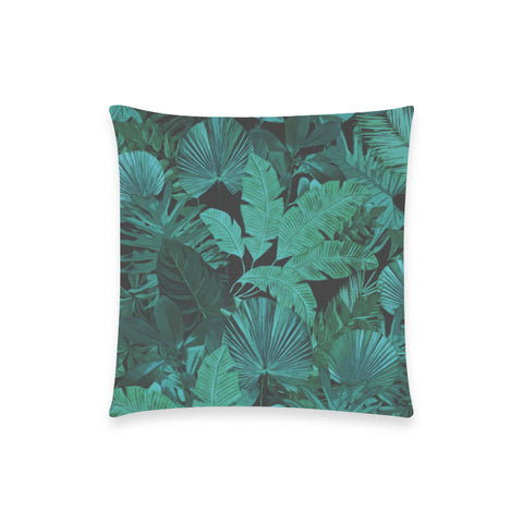 Dark Green Tropical Pillow Case