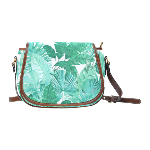 Green Tropical Crossbody Bag