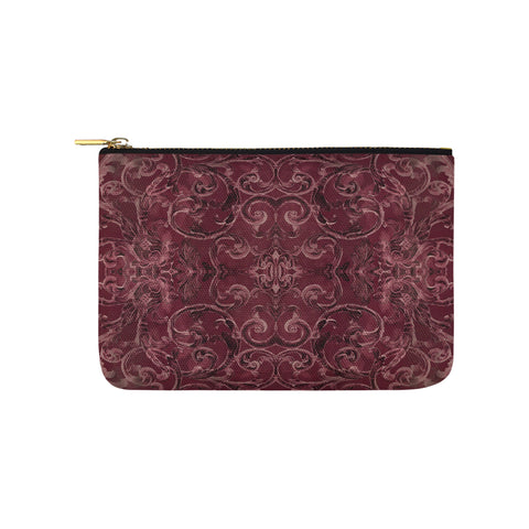 Antique Thai Pattern Burgundy Clutch