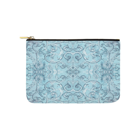 Antique Thai Pattern Pale Blue Clutch