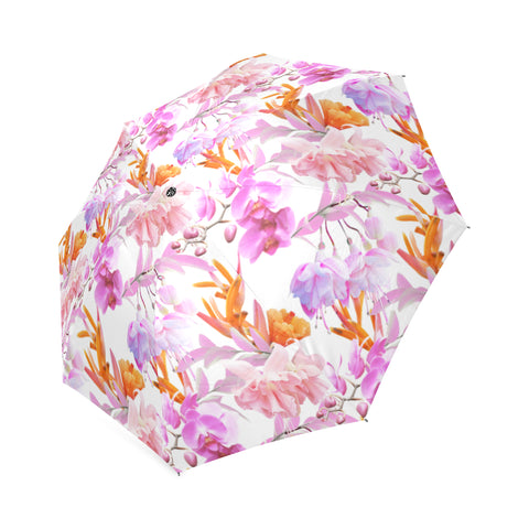 Tropical Bahamas Orange Lilac Umbrella
