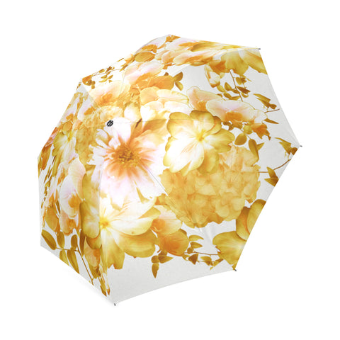 Yellow Romantic Floral Umbrella