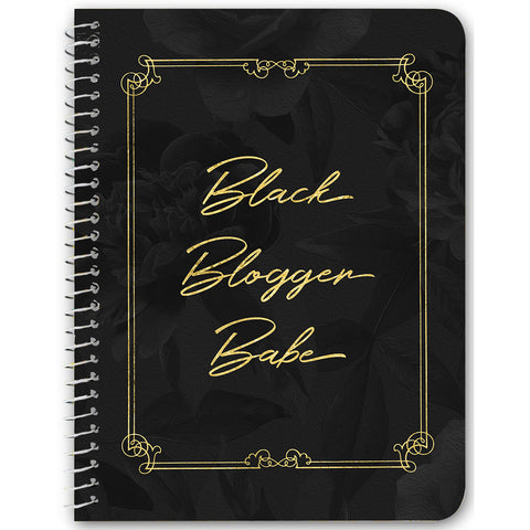Black Blogger Babe Notebooks & Journals - 3 Design Options