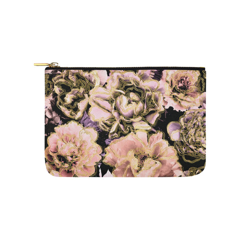 Bold Floral Gold Clutch
