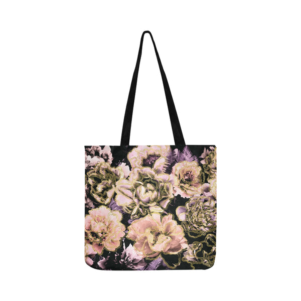 Bold Floral Gold Tote Bag