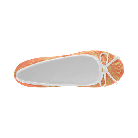 Papaya Pretty Frame Ballet Flats