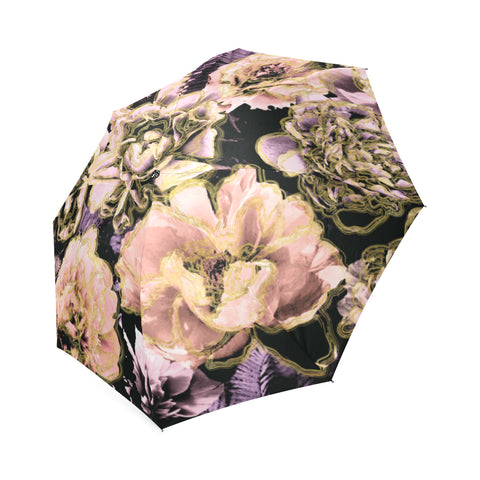 Bold Floral Gold Umbrella