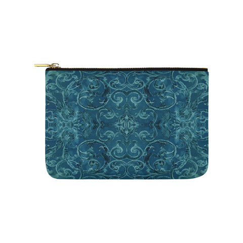 Antique Thai Pattern Teal Clutch