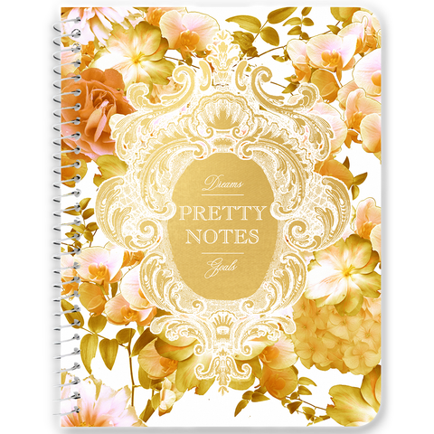 Pretty Notes Romantic Yellow Floral Notebooks & Journals